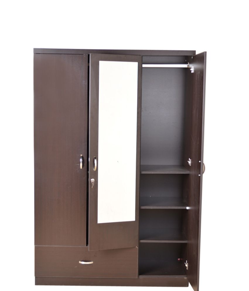 ... HomeTown Utsav 3 Door Wardrobe With Mirror ...