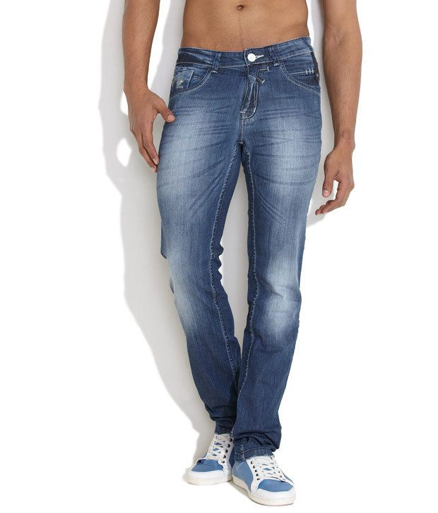 Canary London Medium Blue Off-Duty Essential Slim Fit Jeans