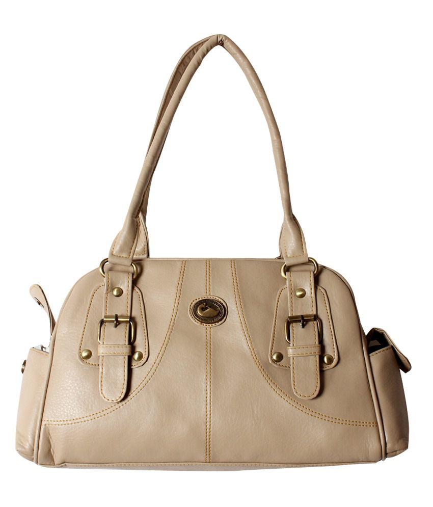 Hysty Beige Fashionable Trendy Handbag