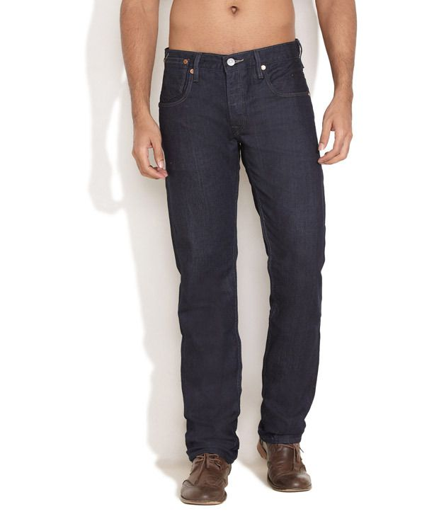 Levi's Medium Blue Straight Fit Sleek Jeans