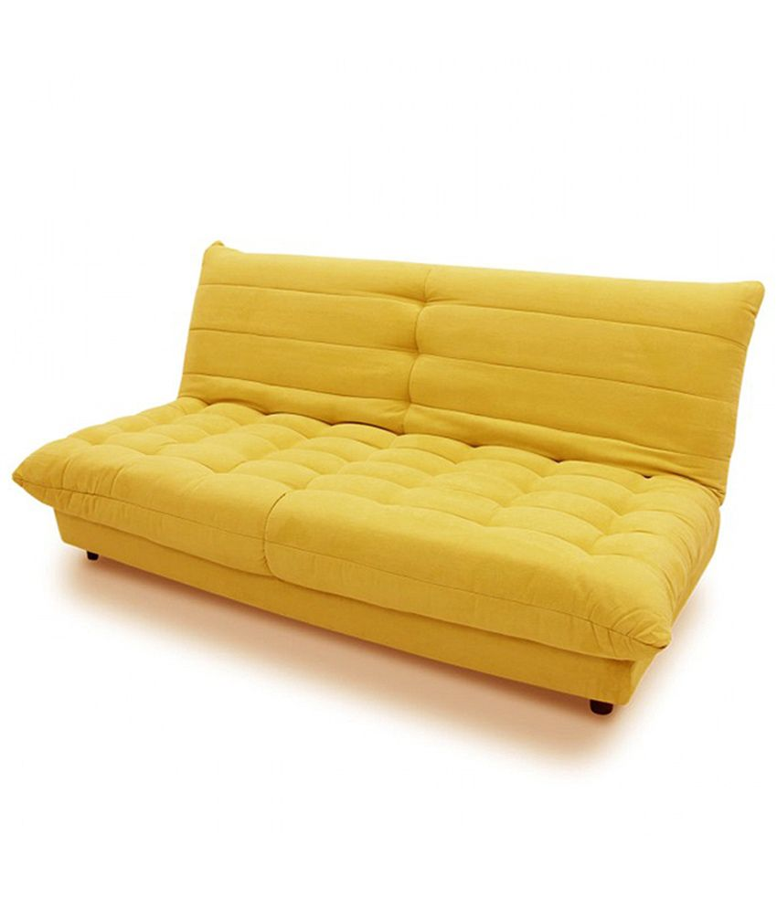 Yellow sofa bed yoko sofa bed er yellow made thesofa for Sofa bed yellow