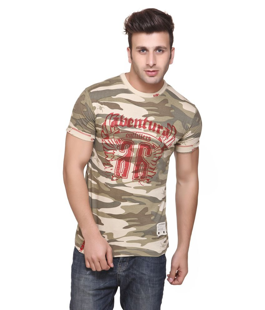 Aventura Outfitters Warrengo Camouflage Round Nack T-shirt