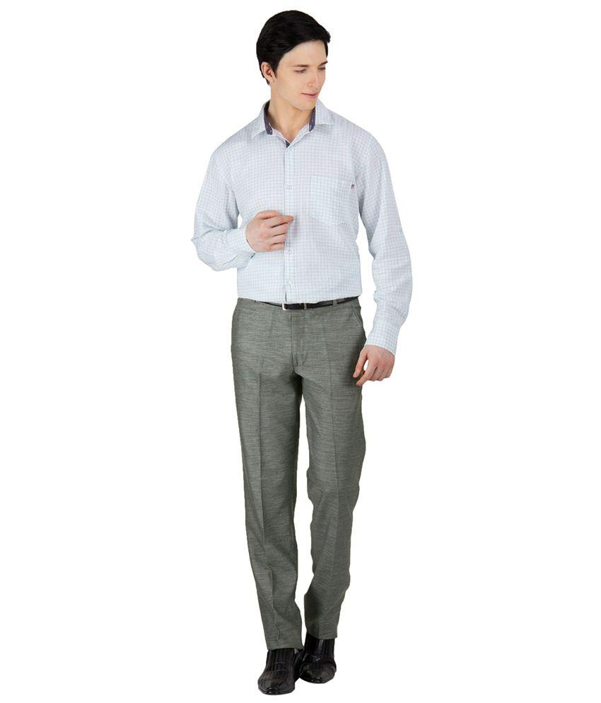 Ghpc Brown Slim Fit Men's Formal Trouser