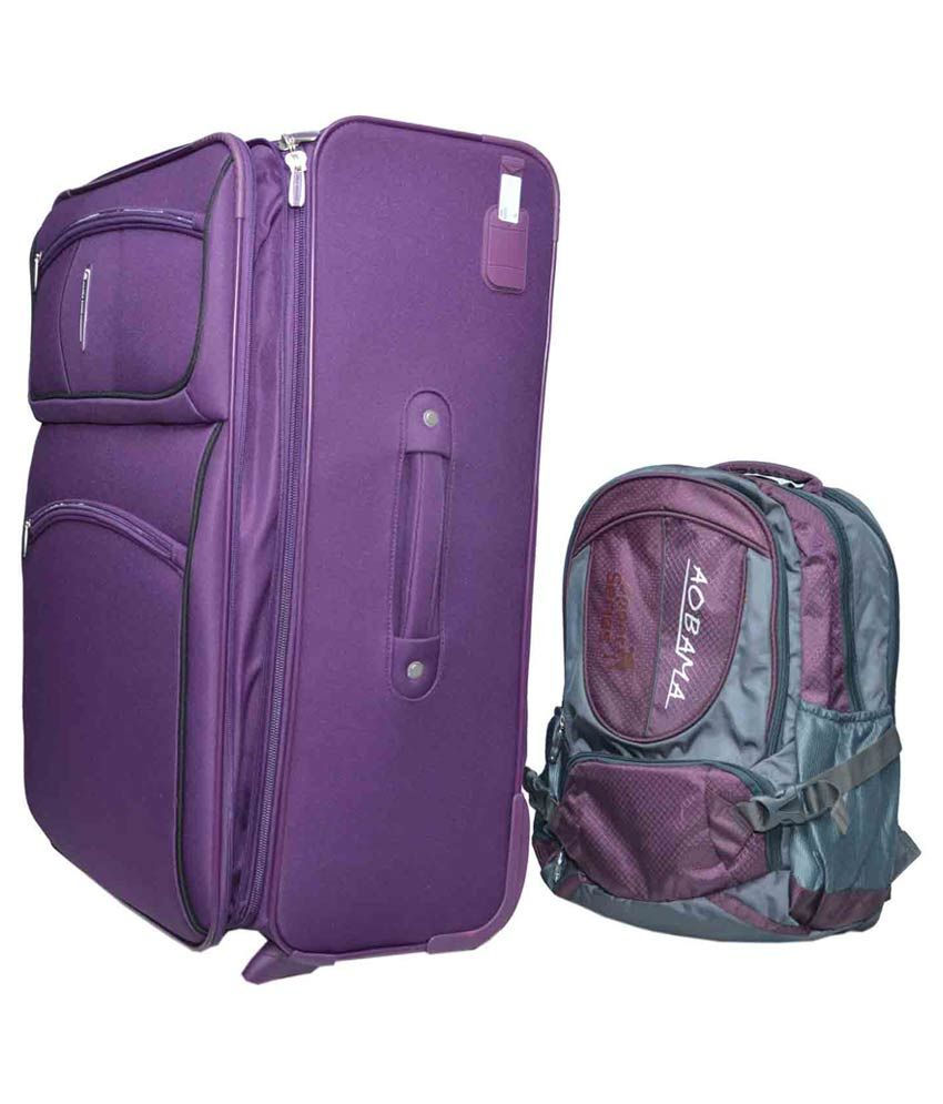 55a0873d5d1f Polo Fashion Purple Trolley Bag With Backpack - Buy Polo Fashion ...