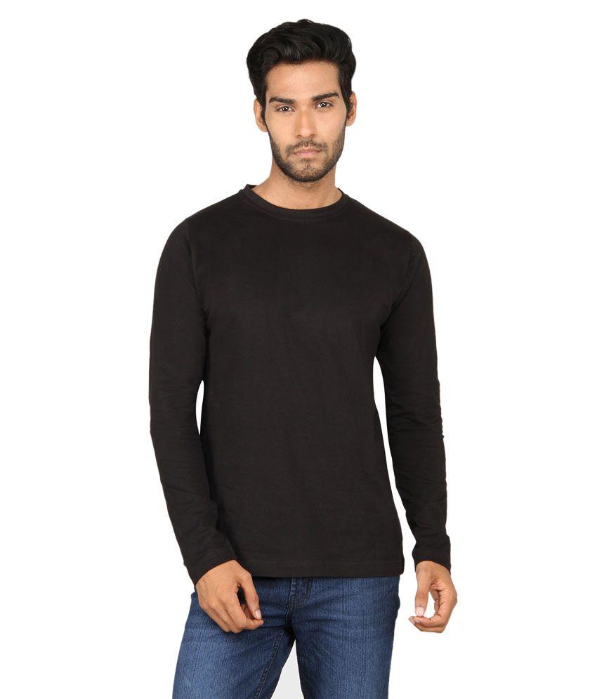 Black t shirt on flipkart - Black T Shirt On Flipkart Sayitloud Plain Black Full Sleeve T Shirt
