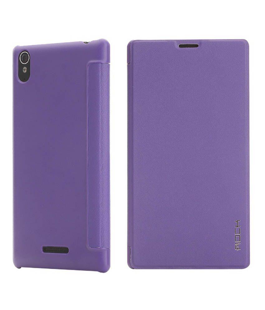 Jo Jo Flip Cover For Sony Xperia T3 - Purple