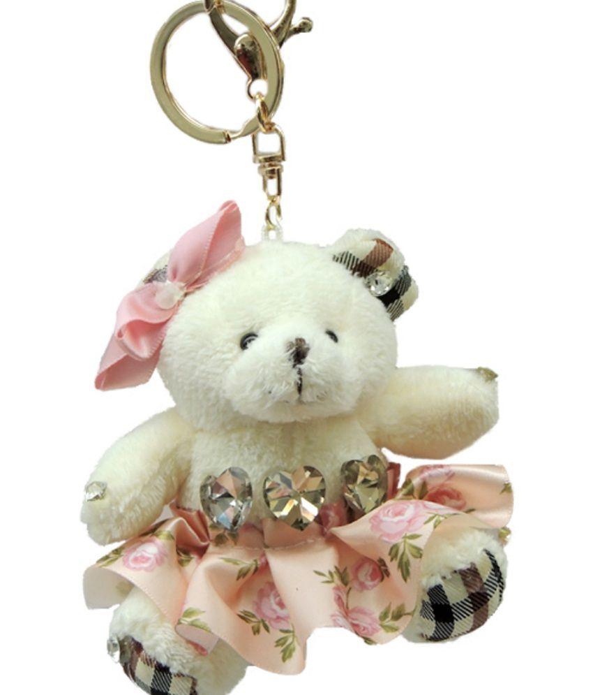Young & Forever Cute Plush Teddy Bear Bag Charm Key Ring & Keychain