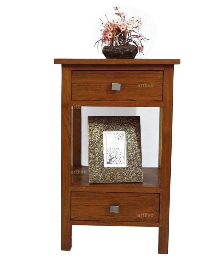 Artlivo Tiffany Side Table (Teak Finish) Ta024
