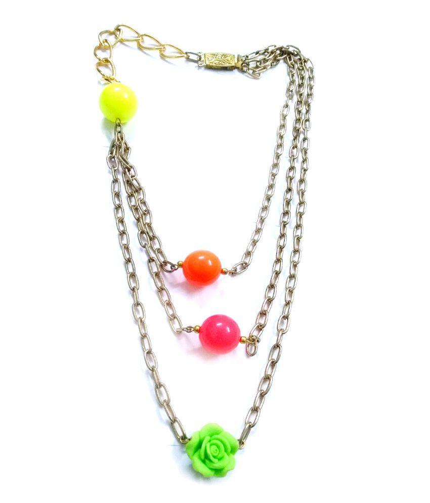 Barohk Bright Beads Layered Necklace