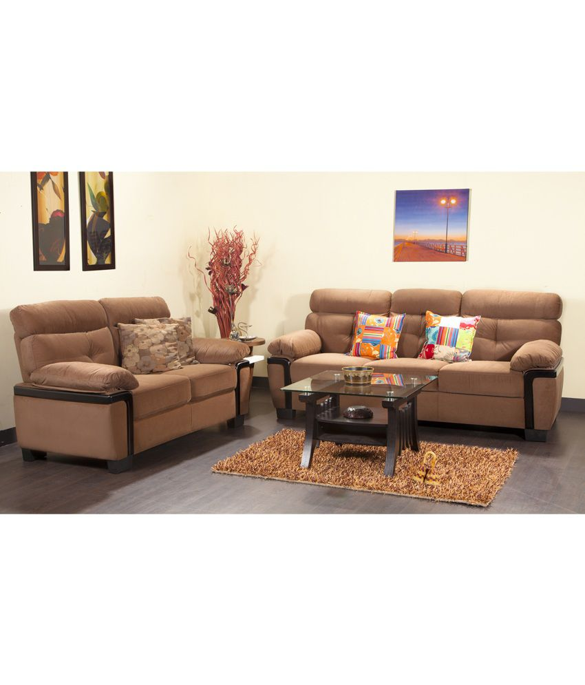 Hometown Amos Fabric 3 2 Sofa Set