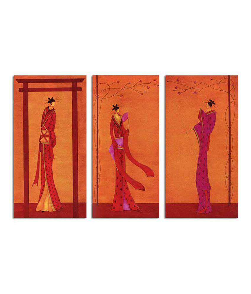 Painting Mantra Royal Ladies - 3 Piece Canvas Art Set