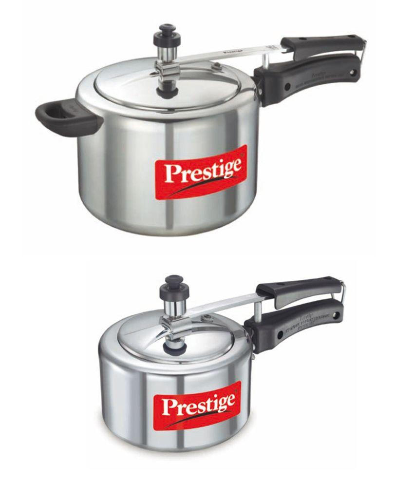 Prestige Pricing: Prestige 5 Ltrs. Nakshatra Pressure Silver Aluminium