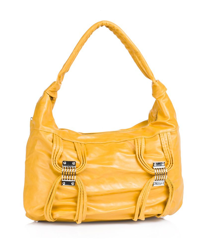 1 Bolzo Si-88design-mutrd Yellow Shoulder Bags