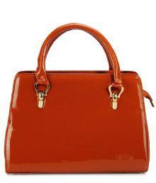 Calvino CL_206_Brown Blue Satchel Bags No