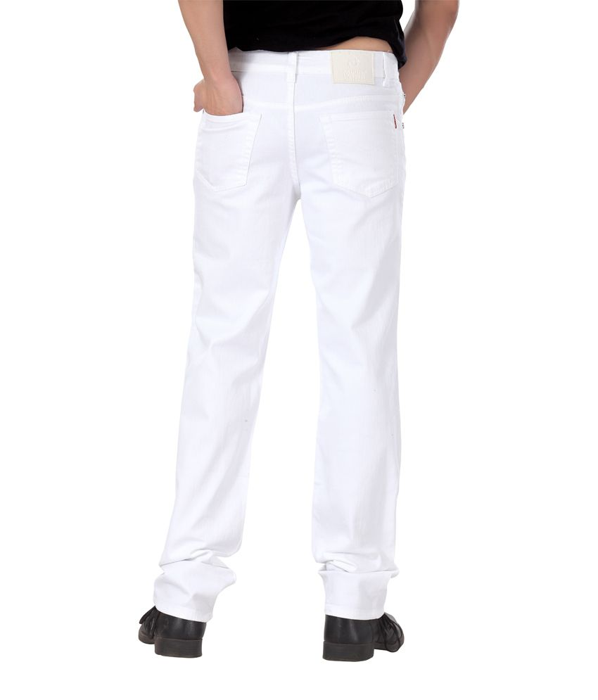 Dragaon Relax Fit White Jeans - Buy Dragaon Relax Fit White Jeans ...
