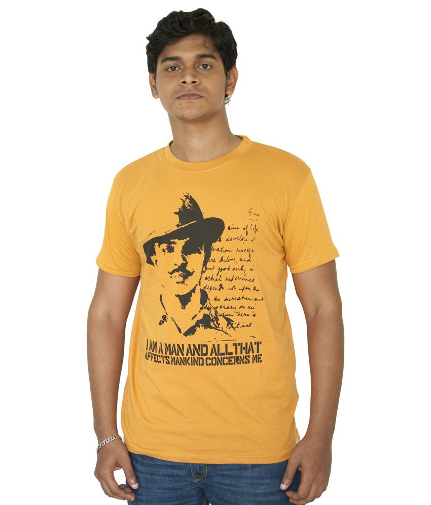 17f286c622 Fotachu Bhagat Singh Gold Tshirt - Buy Fotachu Bhagat Singh Gold Tshirt  Online at Low Price - Snapdeal.com