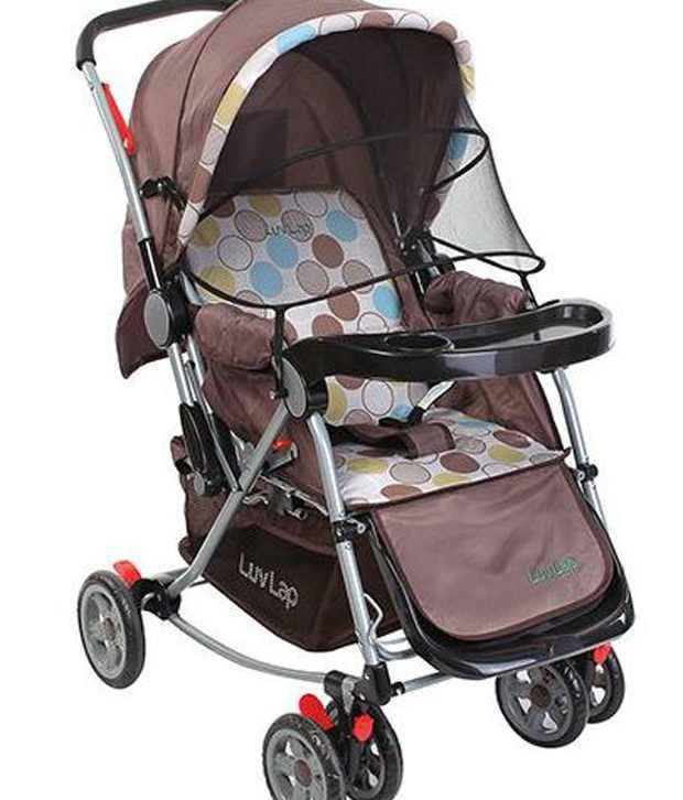 Luv Lap Baby Stroller Pram 2 in 1 with Rocker Cappuccino - 18131 ...