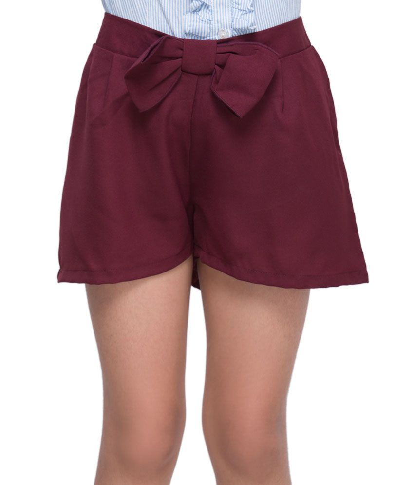 OXOLLOXO Maroon Color Shorts For Kids