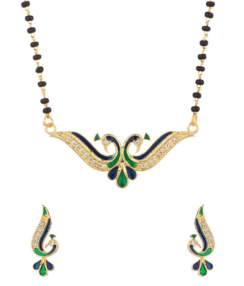 Voylla Single Chain Mangalsutra With Peacock Inspired Pendant