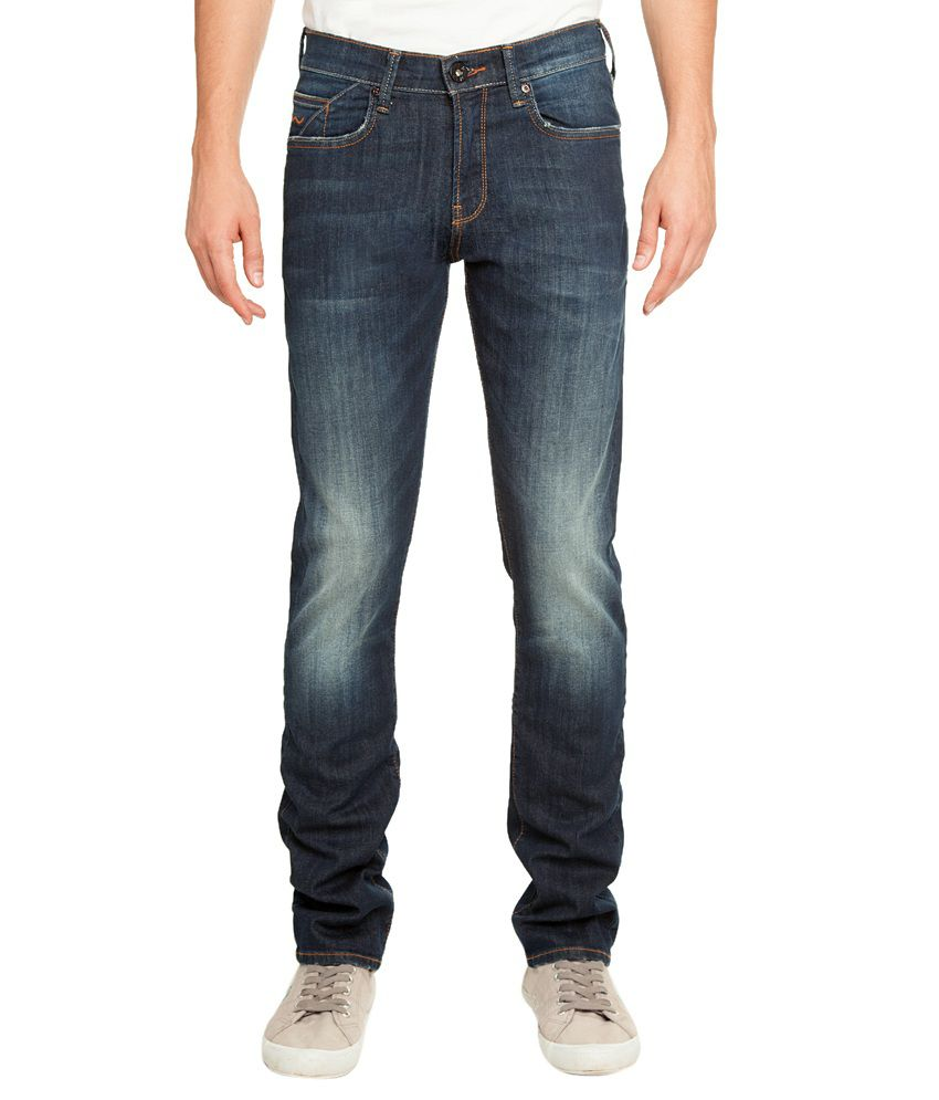 Web Jeans Blue Straight Jeans