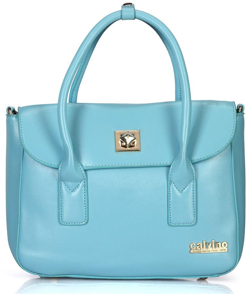 Calvino Calvino CL_1202_BLUE Blue Satchel Bags