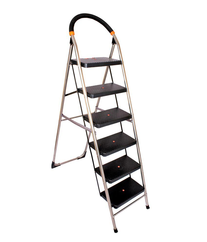 Cipla Plast Ppcp Amp Stainless Steel Folding 6 Steps Ladder