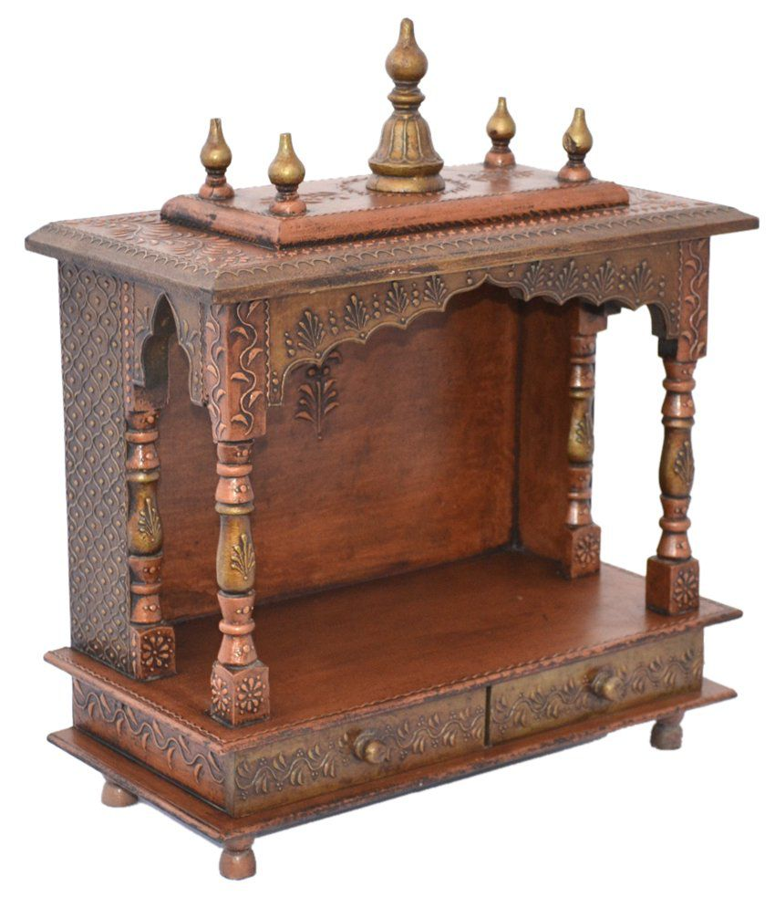 Wooden Temple Or Pooja Mandir Copper Painted Buy Wooden Temple Or Pooja Mandir Copper Painted