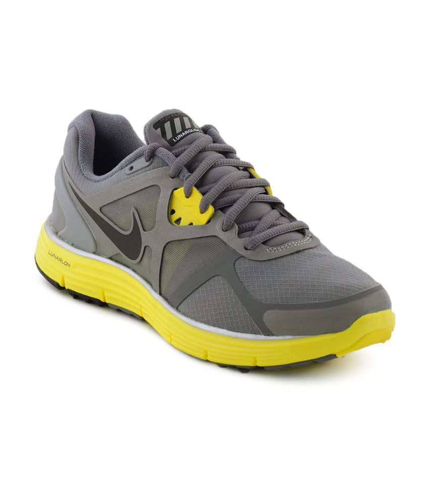 cb628c862e8d3 Nike Lunarglide Women s Running Shoe - Gray And Yellow Price in India- Buy Nike  Lunarglide Women s Running Shoe - Gray And Yellow Online at Snapdeal