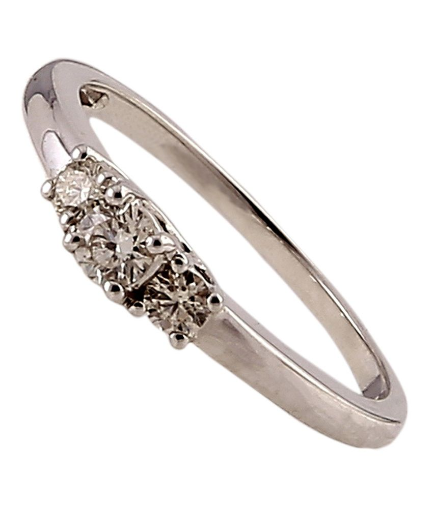Ratnam 18k White Gold Real Diamond Ladies/girls Ring: Buy Ratnam ...