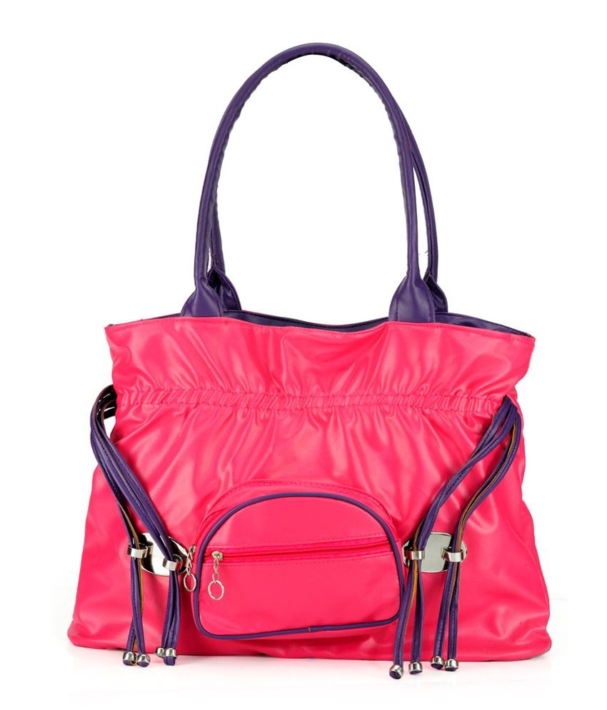 Nell H1065-PINK-PURPLE Pink Shoulder Bags