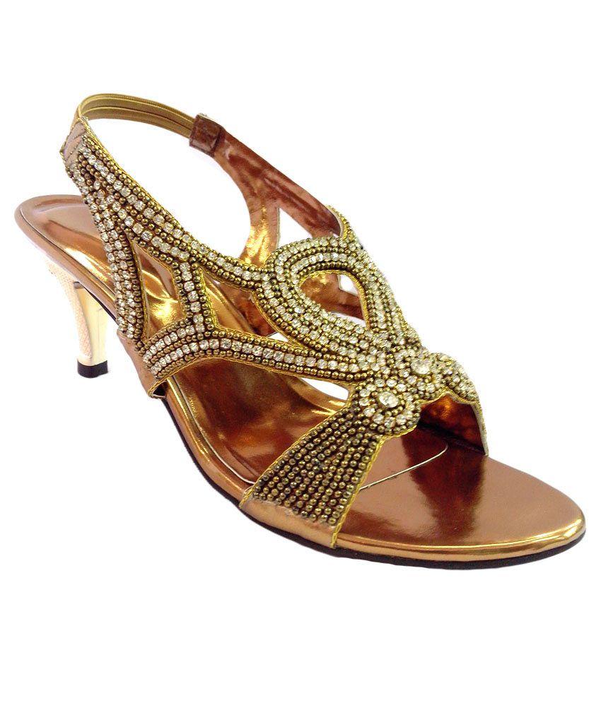 Shoe Centre Stone Studded 2.5 O-heel Fancy Sandal