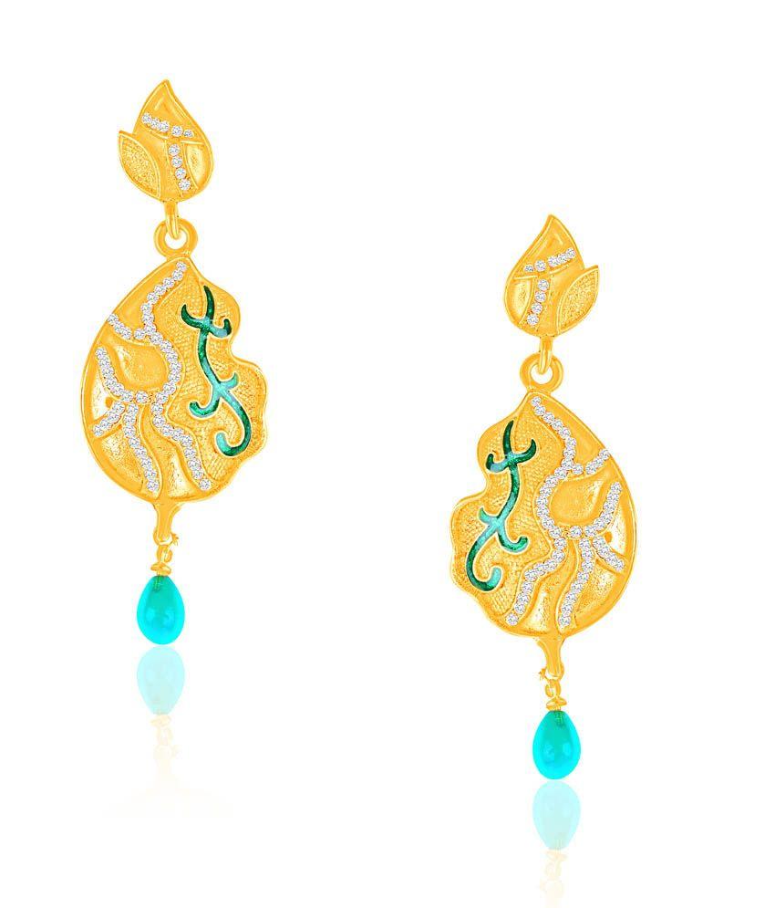 Vk Jewels Amazing Green Drop Earring Set