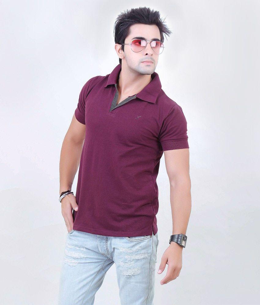 Xact Brown Cotton Half Sleeve T-shirt