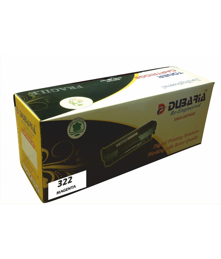Dubaria 322 Magenta Toner Cartridge Compatible for CANON 322M  Magenta Toner