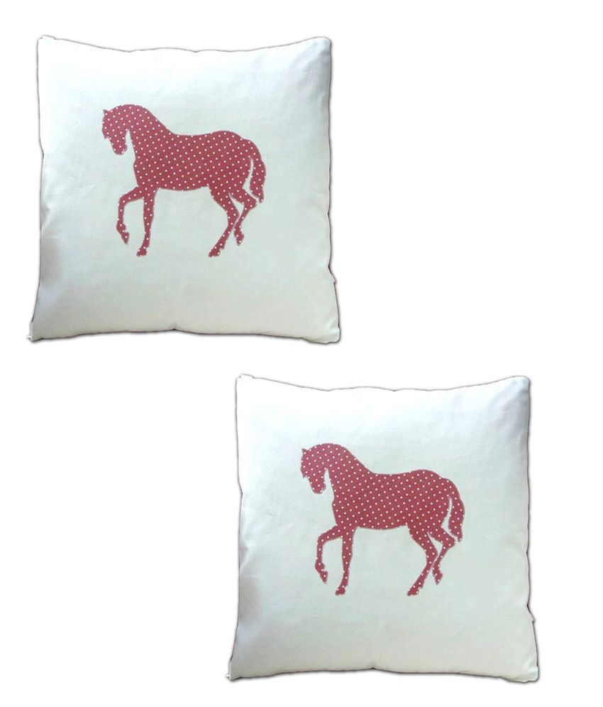 London Lady White Contemporary Cotton Cushion Cover Buy One Get One