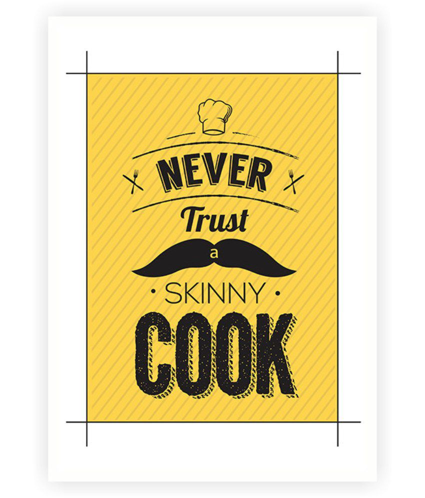Lab No. 4 Never Trust A Skinny Cook Restaurant Wall Decor Quote ...