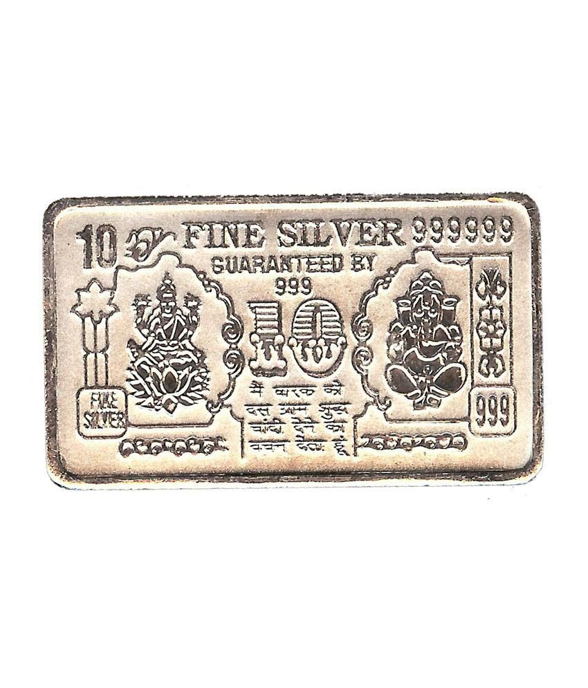 Madaan 10 Gram Pure 999 Bis Hallmarked Silver Note Bar Best For Investment