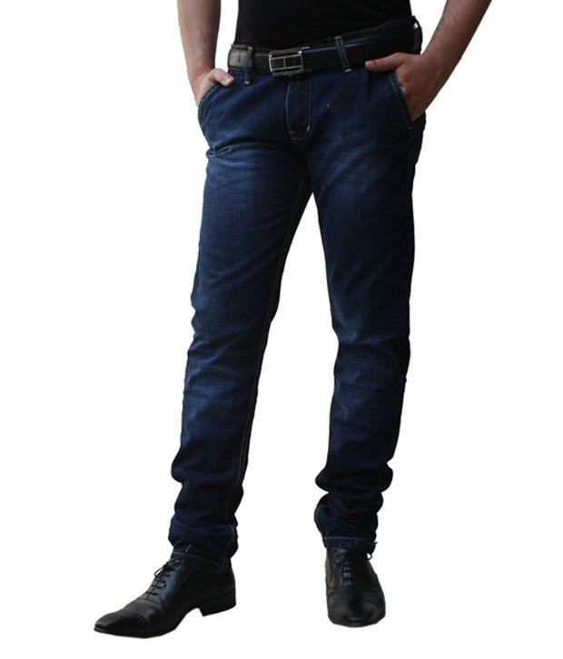 Ben Carter Men's Dark Indigo Blue Slim Fit Denim Jeans (LP)