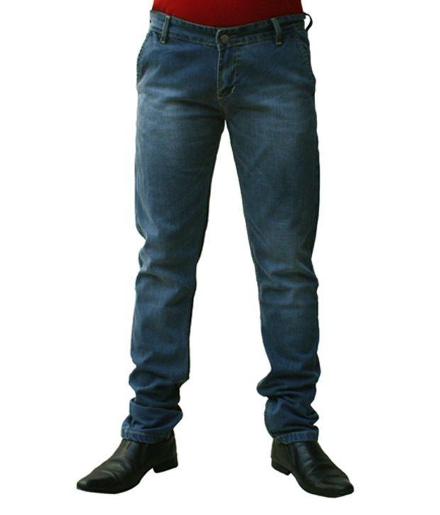 Ben Carter Men's Light Ice Blue Slim Fit Denim Jeans (LP)