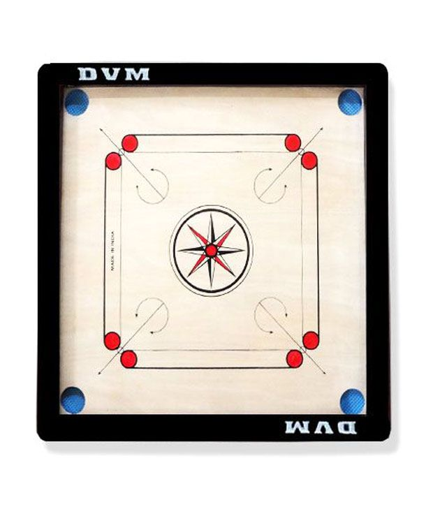 Lianas Premium Carrom Board (30 Inches; 1.5 inches Border) & Freebie: Carom Coins