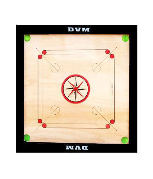 Lianas Premium Carrom Board (30 Inches; 2 Inches Border) & Freebie: Carom Coins