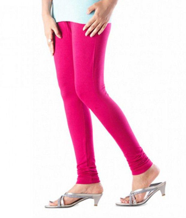 d8da647f6b2e9 Lux Lyra Bubble Gum Churidar Legging Price in India - Buy Lux Lyra Bubble  Gum Churidar Legging Online at Snapdeal