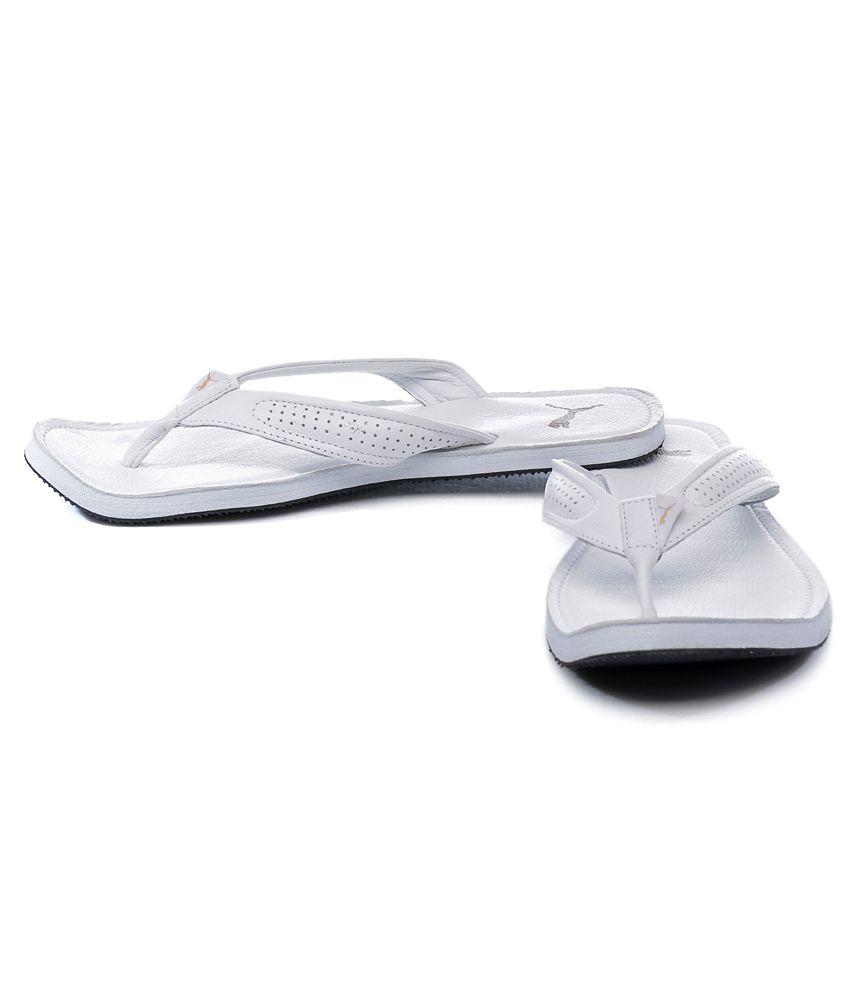Puma White Java III Ind Slippers Price in India- Buy Puma White Java ... 584e612f4