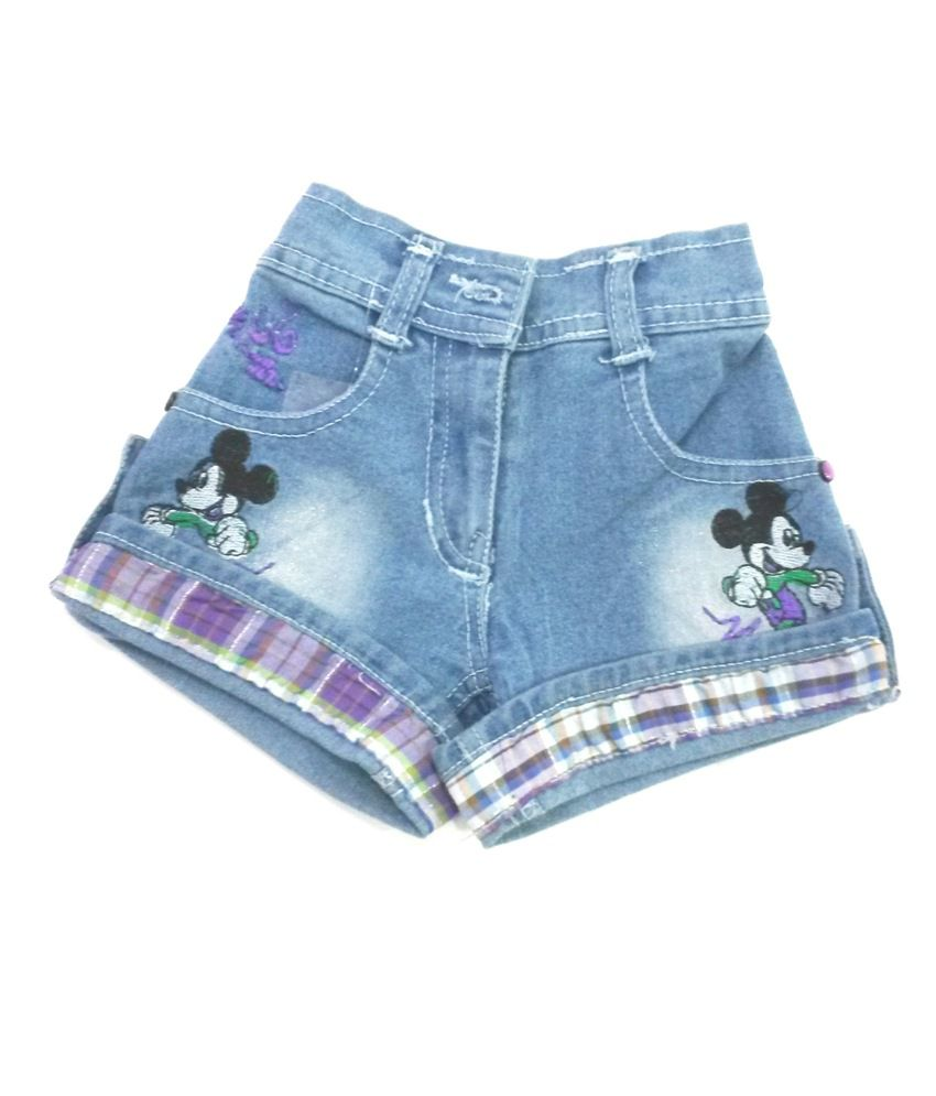 4s Trendy Blue Denim Shorts