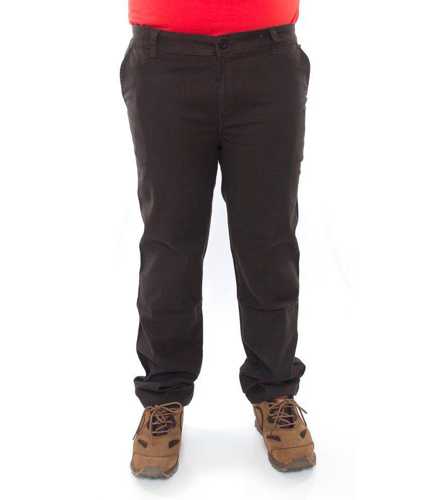 Prankster Cotton Lycra Slim Fit Trousers