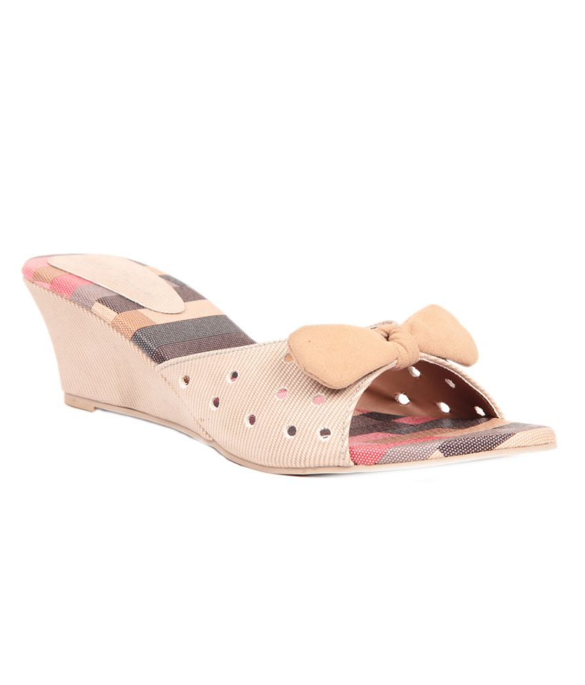 Lovely Chick GhostWhite Wedges Heeled Slip-On