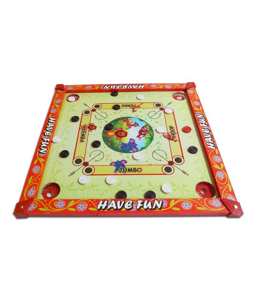 Prasima Toys 2-in-1 Animal Carom Board