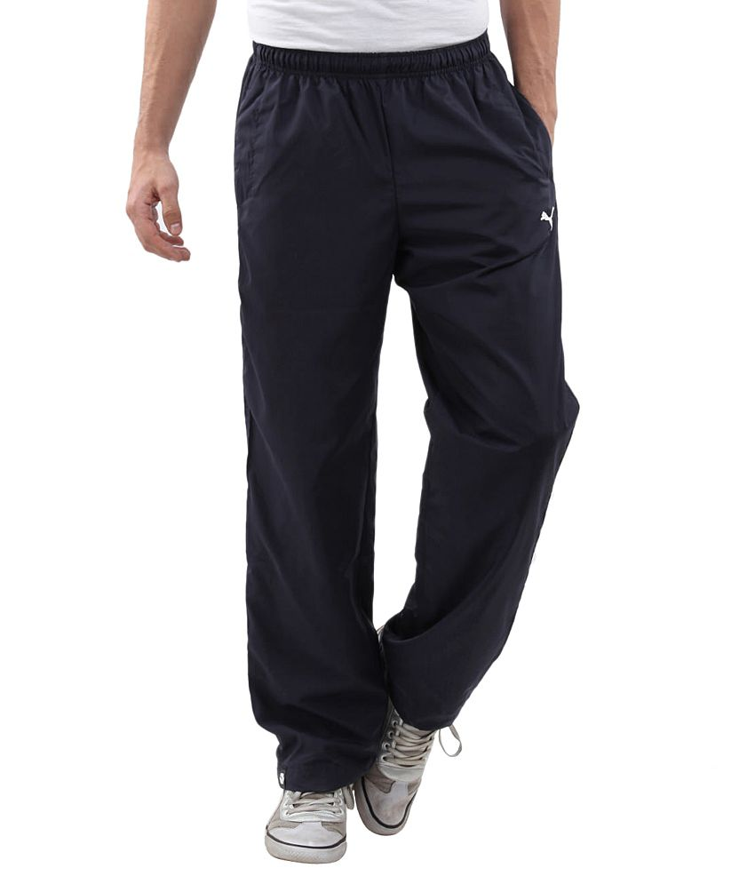 Puma Navy Polyester Trackpants