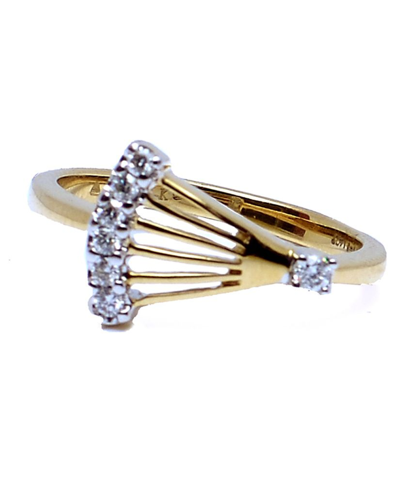 ring designer gold diamond ye ladies rings jewellery