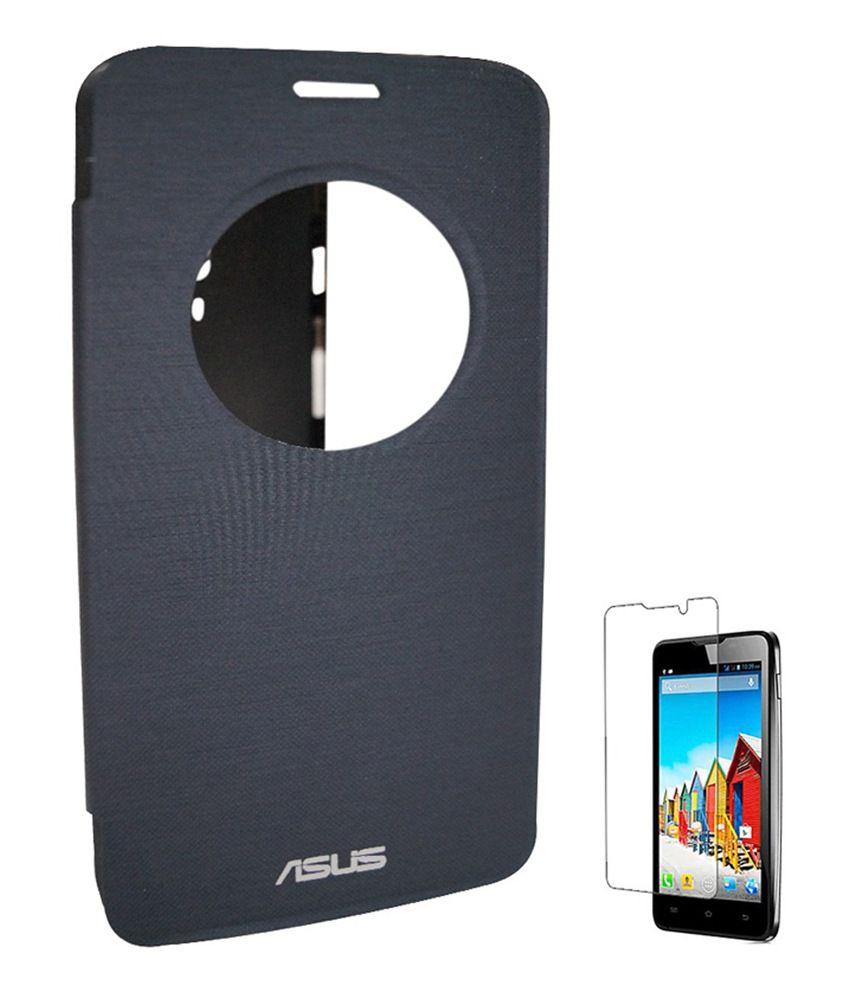 pretty nice e3c18 1cc00 Chevron Flip Cover For Asus Zenfone 5 A501cg With Screen Guard - Black